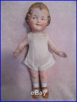 9 Gebruder Heubach antique all bisque Coquette doll All original clothes