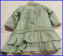 A98 Antique Couture Cotton Doll Outfit withUndies For Antique Bisque Doll