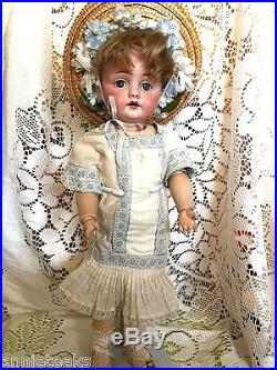 Antique 14 German Doll Bisque Character #143 Kestner Period Clothes