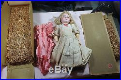 Antique 149 Germany C7 Bisque Socket Head Jointed Comp Body Doll Blonde Blue Eye