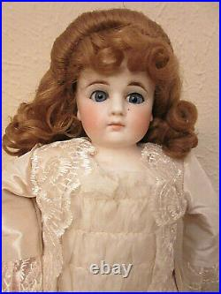 ANTIQUE 16 BELTON BISQUE HEAD FASHION DOLL Made For FRENCH MARKET