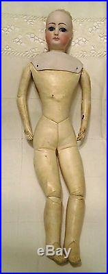 Antique 17 Bisque Francois Gaultier  Doll Kid Leather Body Swival Head