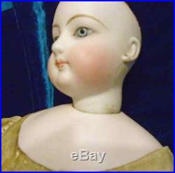 Antique 18 Gaultier French Bisque Full Kid Body Doll Pierced Ears #4