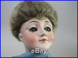 Antique 20 Closed Mouth German Bisque Doll