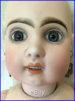 Antique 26 French Bisque Head #11 Doll Bebe Jumeau A. C. D. G Blue Eyes No Reserve