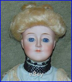 ANTIQUE BISQUE Doll GIBSON GIRL Kestner 172 5 Germany KID LEATHER BODY
