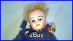 Antique Bisque Miniature Dollhouse Doll Glass Eyes Germany $49.99