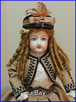 ANTIQUE Bisque French Fashion doll 12 Cabinet Size