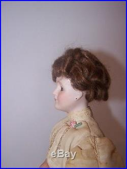 Antique French Fashion Bisque Head Doll Original Clothes Unmarked
