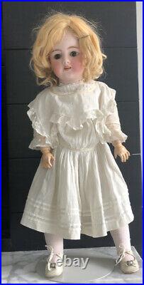 ANTIQUE GERMAN Jointed Bisque Head DOLL Simon & Halbig 21 Inches Tall