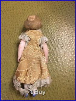 ANTIQUE MIGNONETTE DOLL. ALL BISQUE. Beautiful quality 4 3/4