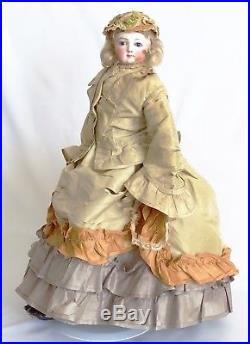 AWESOME Antique 1800 Bisque Parisienne FRENCH FASHION POUPEE DOLL 17 ORIGINAL