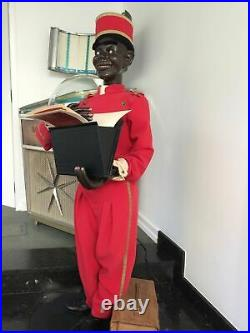 Amazing Great 71 French Automaton Blackamoor Buttons Waiter Hotel