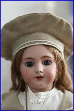Antike Französische Puppe Beautiful size 9 SH for French Trade/Jumeau DEP 57 cm