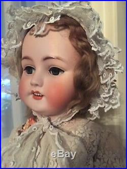 Antique 1078 Simon & Halbig 30 Bisque Doll. Incised S & H 15 On Back Of Head