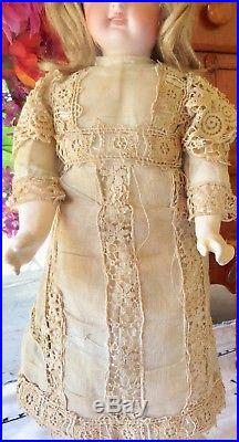 Antique 13 Bisque Factory Original Closed Mouth Belton Doll Perfect