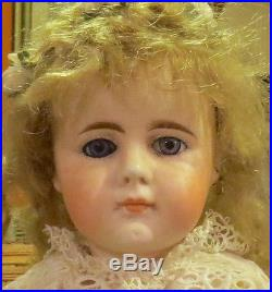 Antique 13 Cabinet Sized Belton Bisque Doll on Orig Early Straightwristed Body