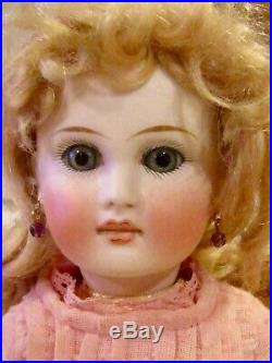 Antique 13 German Bisque Closed Mouth Glass Eyed 137 French Type Belton Doll