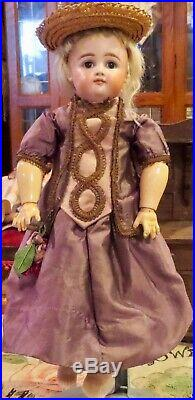Antique 13 German Bisque Closed Mouth Pouty Kestner XII Doll on Original Body