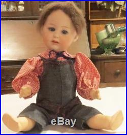 Antique 13 German Bisque Perfect #7162 Gebruder Heubach Character Toddler Doll