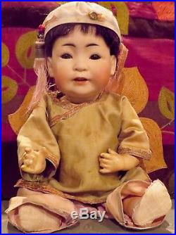 Antique 13 German Bisque Rare Kestner 243 Oriental Doll, Perfect, Great Doll