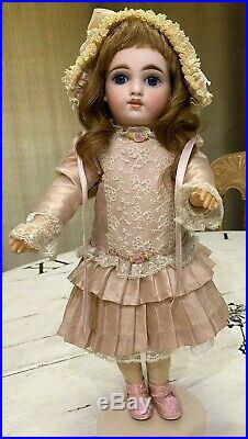 Antique 14.5 BRU BELTON 116 Closed Mouth SONNEBERG Body. FLAWLESS BISQUE. RARE