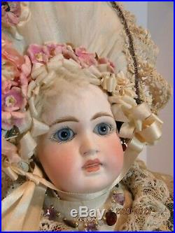 Antique 14.5 FRENCH TRADE BELTON 1880 bru type open closed mouth, jumeau body