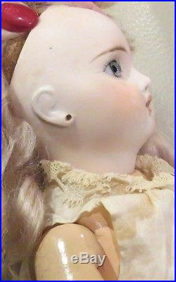 Antique 14 German Belton Style Closed Mouth Bisque Doll Perfect