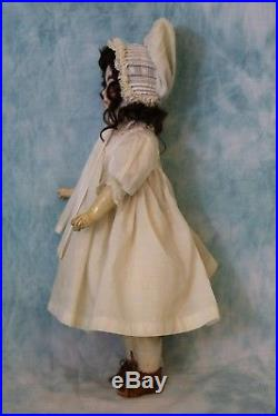 Antique 14 Solid Dome Sonneberg 603 Closed Mouth German Bisque Doll William Goe