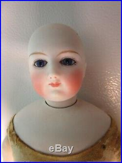 Antique 15 1/2 French Fashion Doll w Bisque Arms AS IS