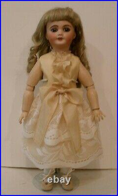 Antique 15 1/2 French Limoges Cherie doll, perfect head, composition body