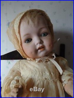 Antique 15 Character Baby Doll Bisque Head & Composition Body Marked 256