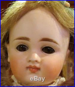 Antique 15 Closed Mouth Pouty Kestner Bisque Doll on Orig Early Body withChemise