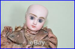 Antique 15 Jumeau Closed Mouth Original Automaton Doll Works Well Head Perfect