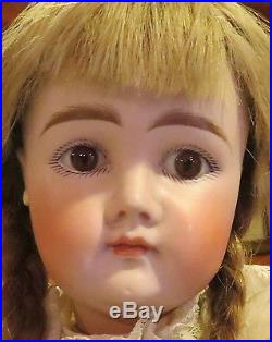 Antique 17 1/2 Closed Mouth Pouty Kestner Bisque Doll on Orig Early Body