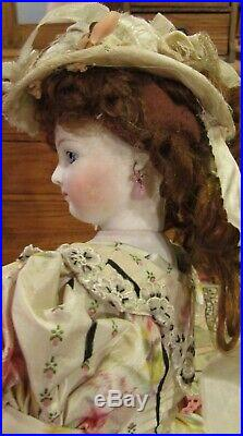 Antique 17 French Bisque Poupee Bois by Jumeau withWooden Articulated Body