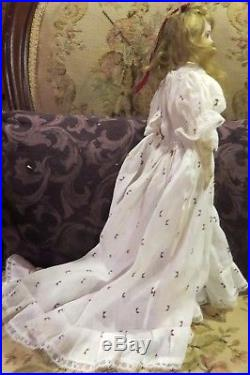 Antique 17 French Bisque Poupee Peau Fashion Lady FG Doll withOrig Body