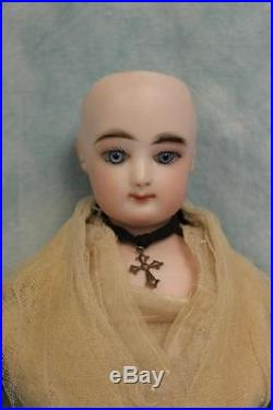 Antique 17 French Fashion Bisque Doll FG Size 2 with Leather & Cloth Body