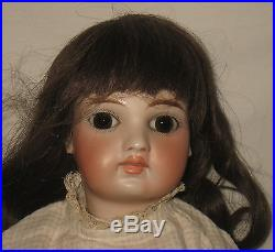 Antique 18 French Bru Look Belton Type Bisque Socket Head Doll MS34