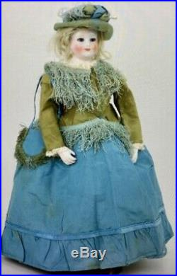 Antique 18 French Huret Poupee China Doll withKid Over Wood Body withBisque Arms