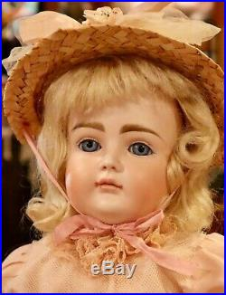 Antique 18 German Bisque Kestner CM Extremely Pouty XI Doll withOriginal Mohair