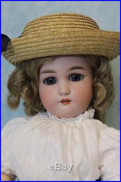 Antique 18 Inch German Bisque doll 1349 Dressel by Simon and Halbig 1906 Rare