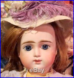 Antique 19 French Bisque RARE Emile Douillet Round Faced Child Doll Perfect