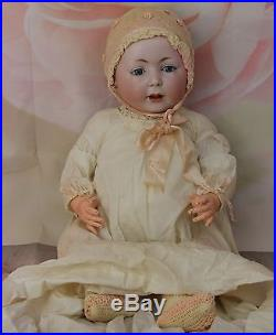 Antique 1912 Swaine & Co. 232 Lori Character German Bisque Doll Compo Body 23