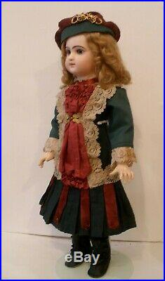 Antique 20 French closed mouth Emile Douillet doll on original body