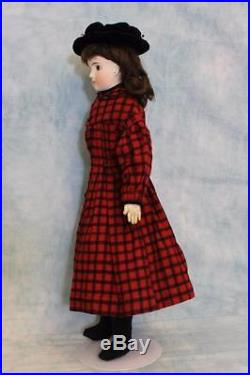 Antique 20 Solid Dome German Bisque Closed Mouth Mystery Girl Doll circa 1885