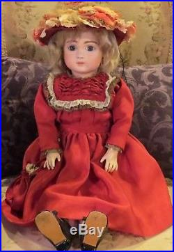 Antique 21.5 French Bisque Closed Mouth Fre A 13 Steiner Doll on Original Body