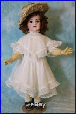 Antique 21 Bru Jne R 9 Bebe French Bisque Doll 1889 Adorable White Dress w Lace