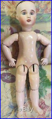 Antique 21 French Bisque Bebe, Lanternier Favorit Doll withOrig Body