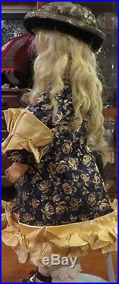 Antique 21 French Bisque Schmitt & Fils Bebe withMohair Wig, Couture Outfit Doll